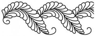 šablona pro quilt - peří
