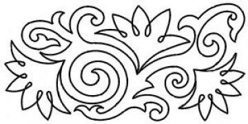 šablona pro quilt - lotus