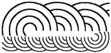šablona pro quilt - disc