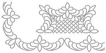 šablona pro quilt - mušle