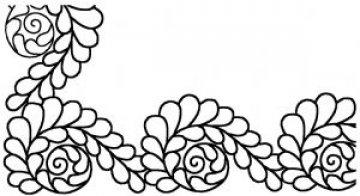šablona pro quilt - spirála