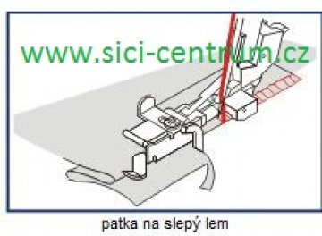 patka na slepý steh 1,0 hrubé materiály pro Bernette 610D