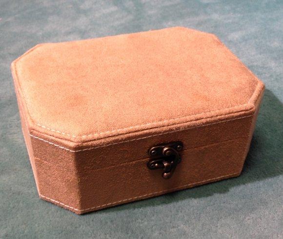 šperkovnice béžová 7x15x20cm-
