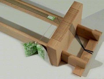korálkový tkací rám dřevěný-