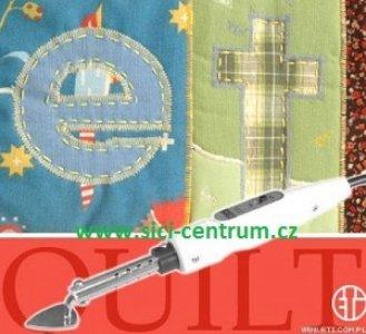 žehlička mini na patchwork a šikmé proužky