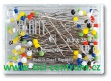 špendlíky kalené 0,5x35 pestrý 10g