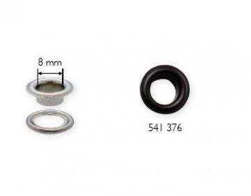 černá průchodka s podložkou 8x5mm-50ks
